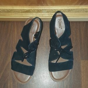 Toms Gladiator Black Sandals